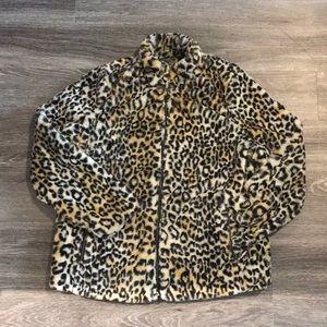 JouJou Faux Fur Animal Print Jacket